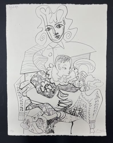 Ines and her child by Pablo Picasso at
