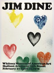 Whitney Museum 1970 (Six Hearts 1970) by Jim Dine at