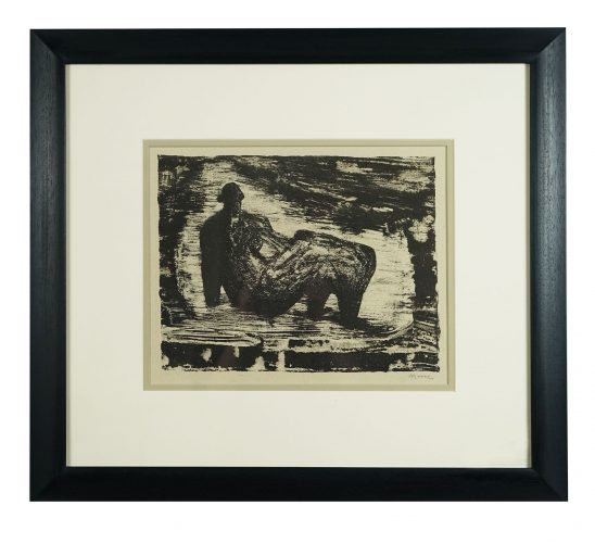 Black Reclining Figure IV by Henry Moore at Hidden