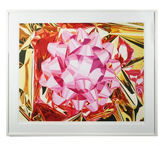Pink Bow by Jeff Koons at