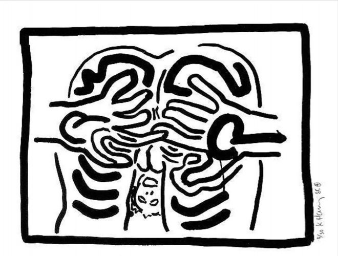 Untitled from Bad Boys by Keith Haring at