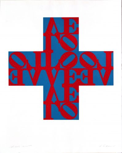 Love Cross by Robert Indiana at