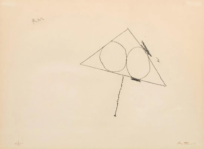 Untitled from Madrid Suite by Robert Motherwell at