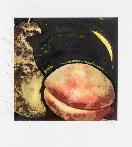 Still Life with Peach by Donald Sultan at
