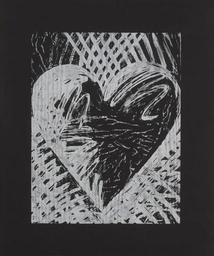 A Night Woodcut by Jim Dine at