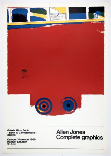 Galerie Mikro 1969 (A Fleet of Buses, 1966) by Allen Jones at