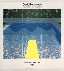 Editions Herscher, Paris 1980 (Day Pool with Three Blues 1978) by David Hockney at