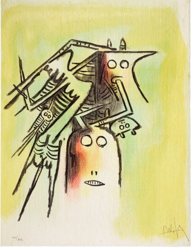 Elle, Casque by Wifredo Lam at