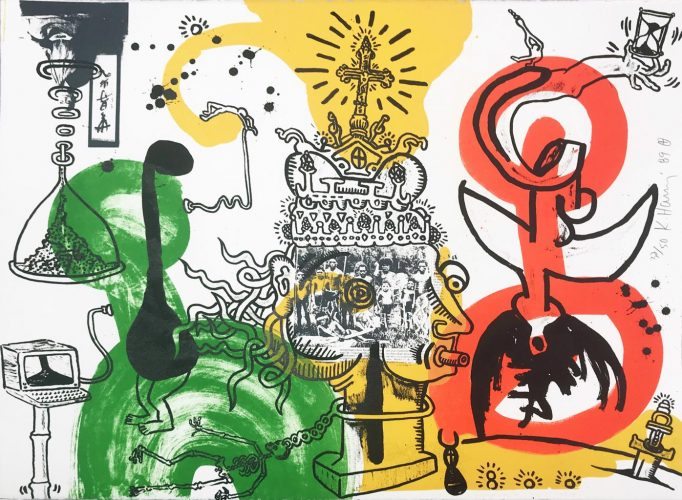 The King by Keith Haring at