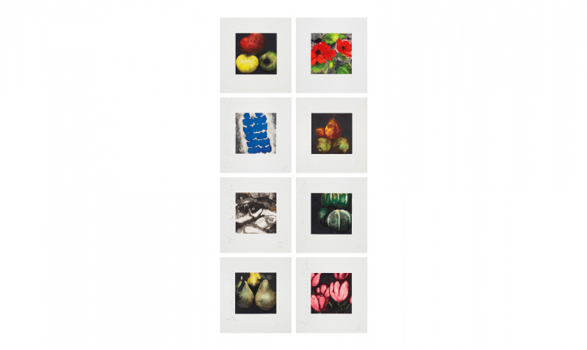 Fruit, Flowers and Fish Suite by Donald Sultan at