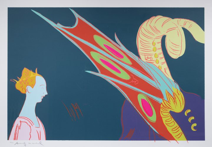 Details of the Renaissance (Paolo Uccello, St. George and the Dragon, 1460) by Andy Warhol at
