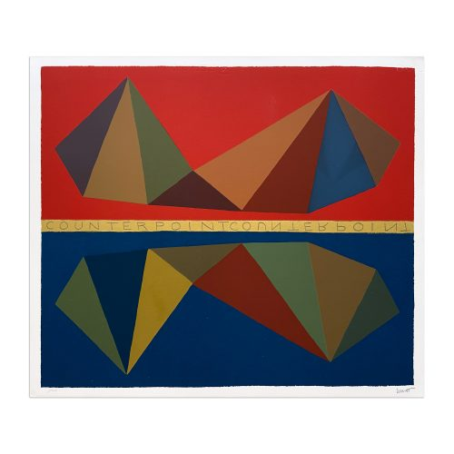 Two Asymmetrical Pyramids and Their Mirror Images (Counterpoint) by Sol LeWitt at