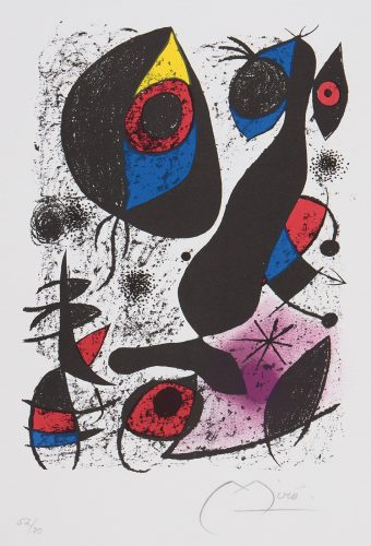 Joan Miro a lencre 1972 by Joan Miro at