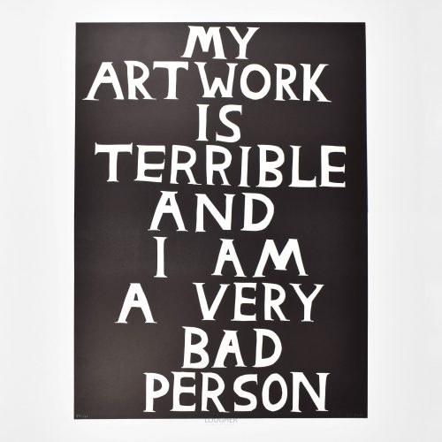 My Artwork is Terrible by David Shrigley at