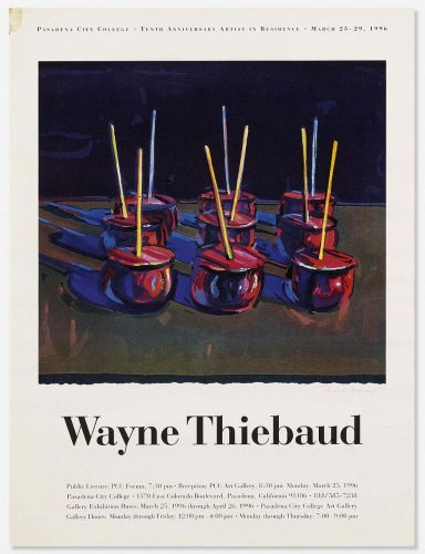 Pasadena City College 10th Anniversary Artist in Residence Print by Wayne Thiebaud at