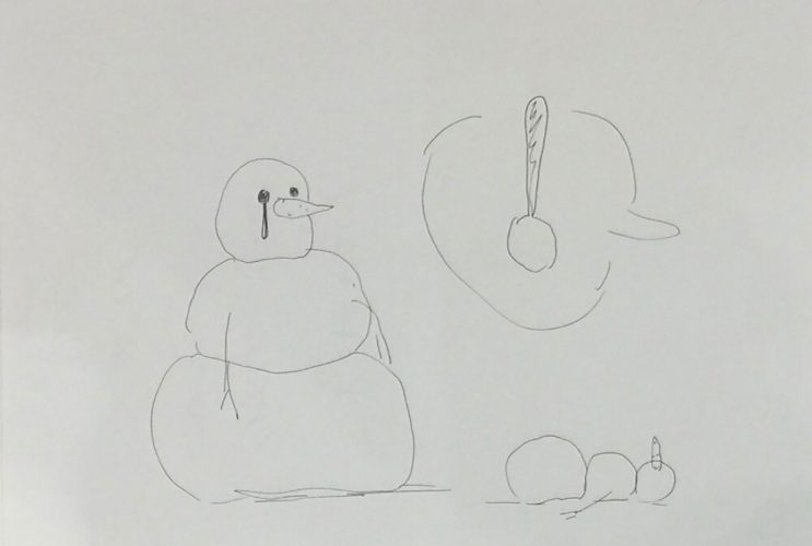 Untitled Snowman Drawing by Olav Westphalen at