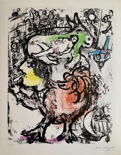 Pirouette au Cirque by Marc Chagall at