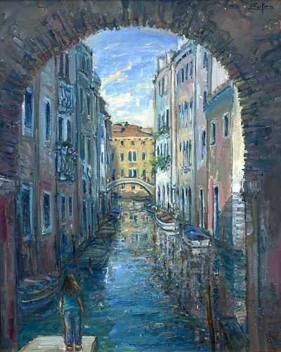 Sotoportego by San Giacomo, Venice by Bruno Zupan at