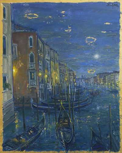Grand Canal Venice, View to Rialto by Bruno Zupan at