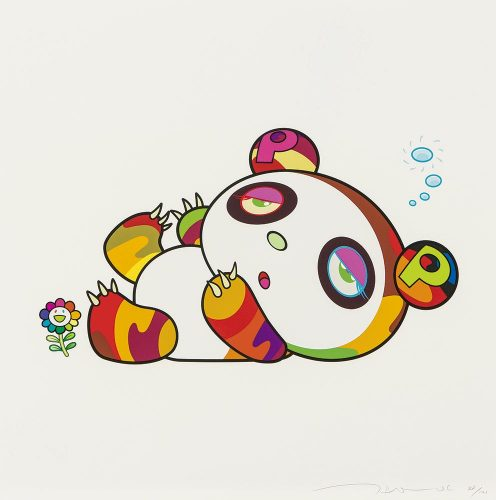 Panda Cub, Sleepy Time by Takashi Murakami at