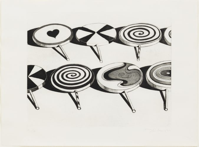 Black Suckers by Wayne Thiebaud at