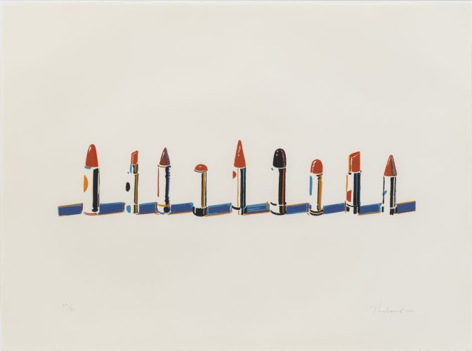 Lipstick Row by Wayne Thiebaud at