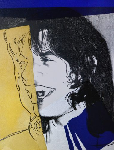 Mick Jagger by Andy Warhol at