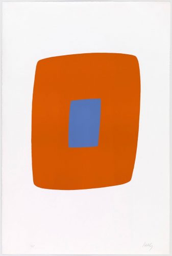 Orange with Blue (Orange avec bleu) by Ellsworth Kelly at