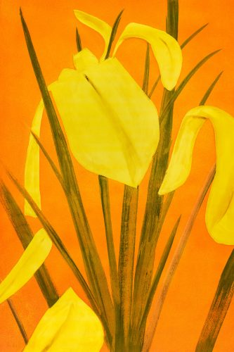 Yellow Flags 4 by Alex Katz at