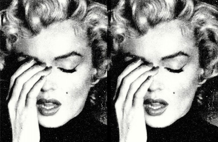 Marilyn Crying Diptych by Russell Young at