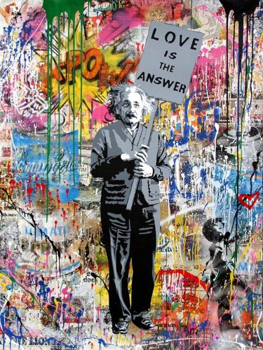 Einstein by Mr. Brainwash at