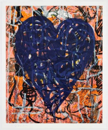 Blue Artist at the Bahnhof by Jim Dine at