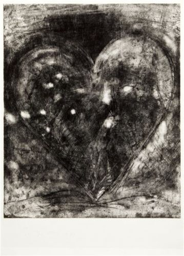 Etching Heart by Jim Dine at