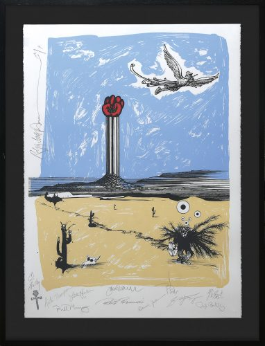 Going Home. (Dr. Hunter S. Thompson Gonzo Memorial Fist.) by Ralph Steadman at