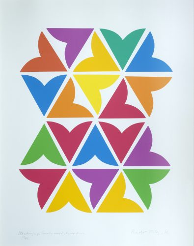 Standing Up, Turning Round, Lying Down by Bridget Riley at