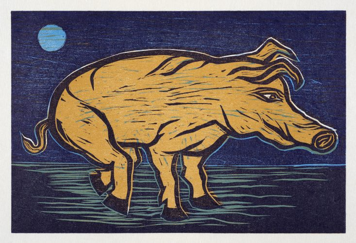 Blue Moon by Eileen Cooper RA at
