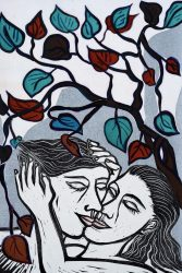 Be Kissed and Often by Eileen Cooper RA at Sims Reed Gallery (IFPDA)