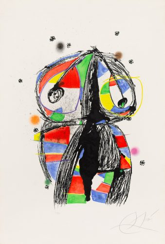 Colombine with Black Ideas by Joan Miro at Christopher-Clark Fine Art