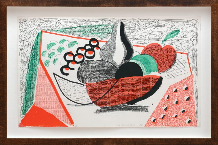 Apples, Pears and Grapes. by David Hockney at