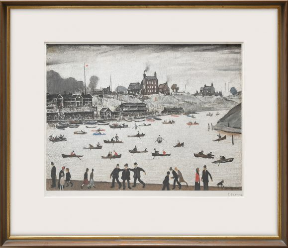 Crime Lake. by L S Lowry at