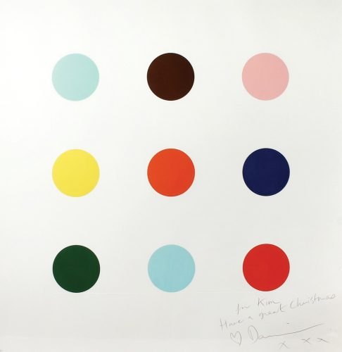 9 Large Spots. by Damien Hirst at