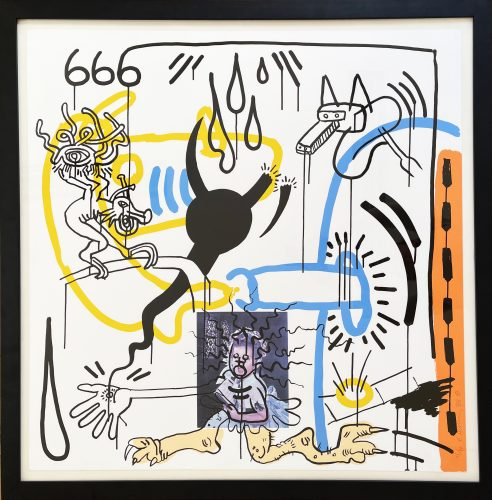 Apocalypse 8 –  from the Apocalypse series 1988 by Keith Haring at