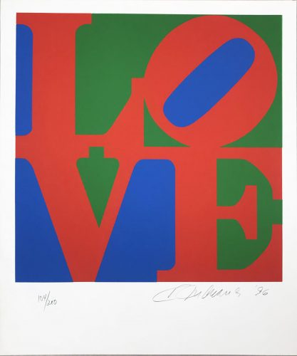 The Book of Love 7 by Robert Indiana at
