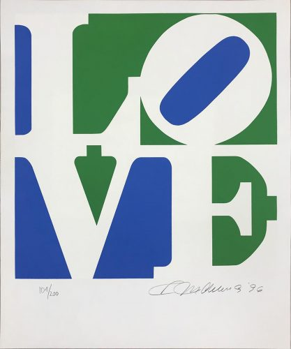 The Book of Love 8 by Robert Indiana at