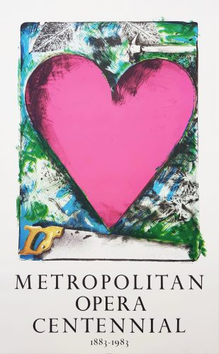 A Heart at the Opera (Signed) by Jim Dine at