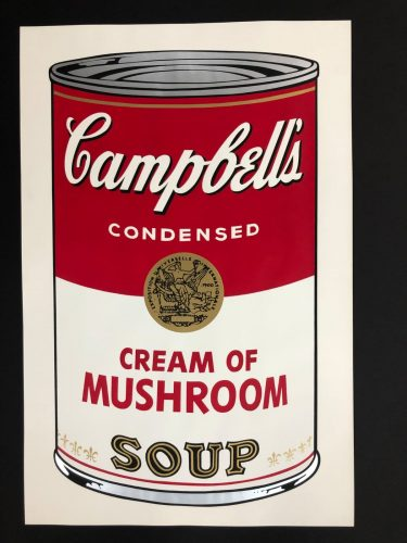 Cream of Mushroom Soup by Andy Warhol at Hidden