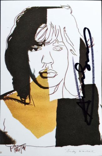 Mick Jagger by Andy Warhol at Hidden