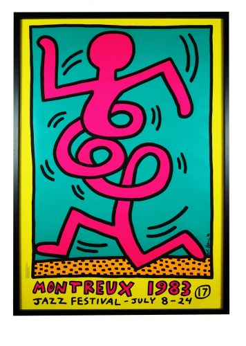 17th Montreux Jazz Festival by Keith Haring at Hidden