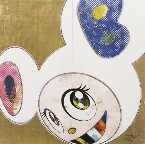 DOB in Pure White Robe (Pink and Blue) by Takashi Murakami at Michael Lisi/Contemporary Art