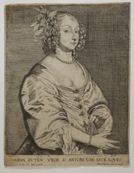 Portrait of Mary Ruthven, wife of Antoine Van Dyck by Joannes Meyssens at